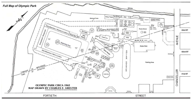 Olympic Park Nj 1962 Map